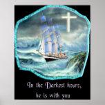 en su poster cristiano del rezo de las horas más o