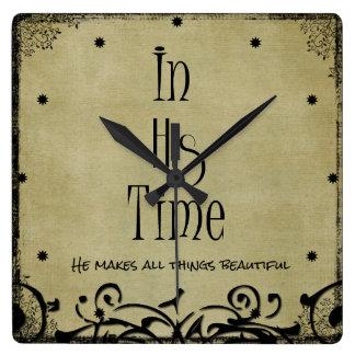 En su verso de la biblia del tiempo relojes