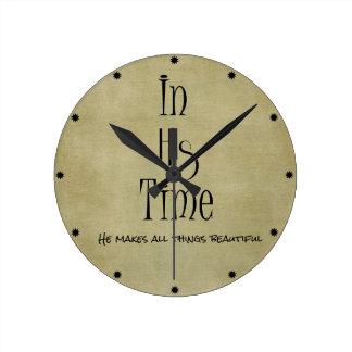 En su verso de la biblia del tiempo reloj redondo mediano