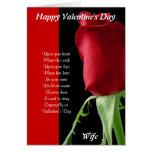 En sus brazos el el día de San Valentín Tarjetas