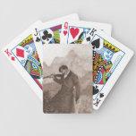 En sus vistas baraja cartas de poker