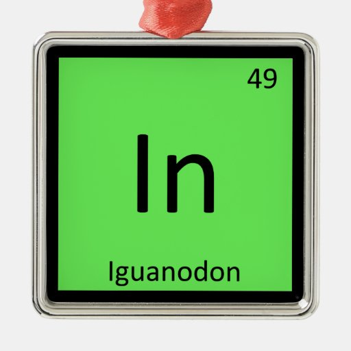 En - tabla periódica de la química del dinosaurio  ornamentos de navidad