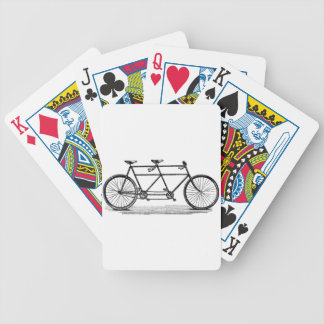 En tándem baraja cartas de poker
