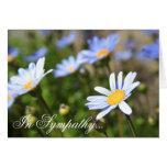 En tarjeta de felicitación azul de la flor de Marg