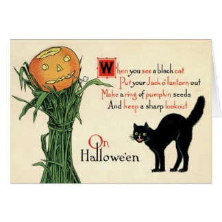 En tarjeta de felicitación del vintage de Hallowee