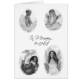 En tarjeta de los ángeles de la memoria 911