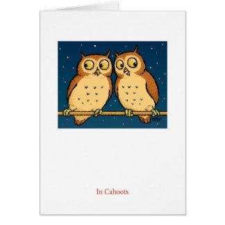 En tarjeta del búho de Cahoots
