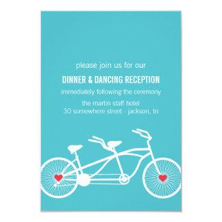 """En tarjetas azules de la recepción del diseño de invitación 3.5"""" x 5"""""""