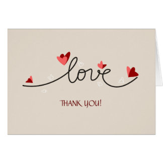 En texto elegante simple del amor gracias tarjetas