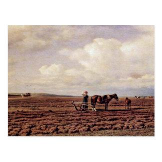 En The Field de Klodt Von Jürgensburg Michail Kons Postales