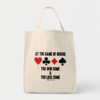 En The Game del puente usted gana alguno y usted Bolsa Tela Para La Compra