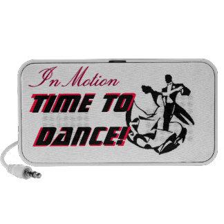 En tiempo del movimiento para bailar el altavoz
