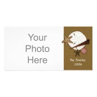 En tierra lavada tarjeta de la foto tarjetas personales