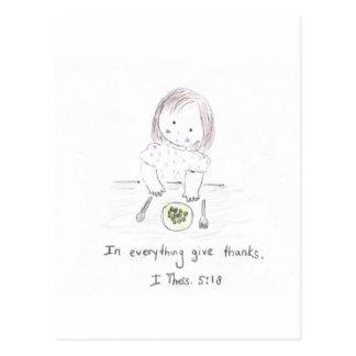 En todo dé las gracias postales