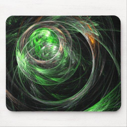 En todo el mundo arte abstracto verde Mousepad