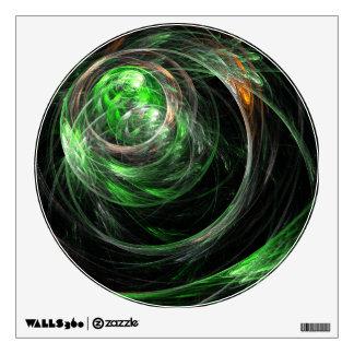 En todo el mundo círculo verde del arte abstracto