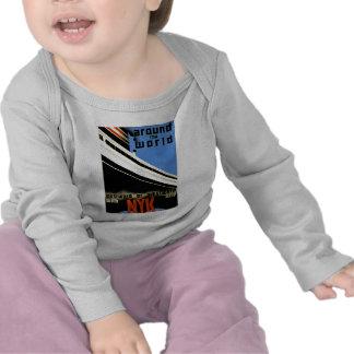 En todo el mundo con la línea de NYK Camiseta