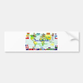 En todo el mundo concierto etiqueta de parachoque