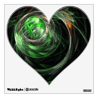 En todo el mundo corazón verde del arte abstracto