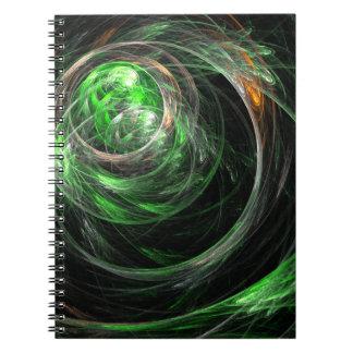En todo el mundo cuaderno verde del arte abstracto