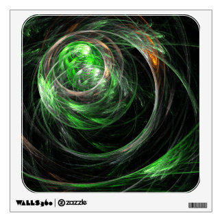 En todo el mundo cuadrado verde del arte abstracto