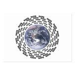 En todo el mundo en 80 días tarjetas de visita grandes