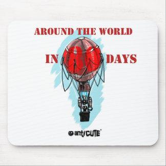 en todo el mundo en balón de aire de ochenta días mousepads