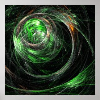 En todo el mundo impresión verde del arte abstract impresiones