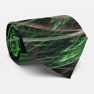 En todo el mundo lazo verde del arte abstracto corbata