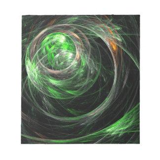En todo el mundo libreta verde del arte abstracto bloc