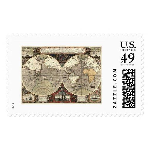 En todo el mundo mapa de Drake - 1595 Sello