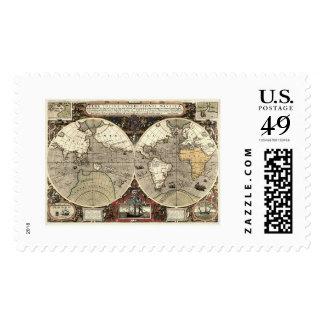 En todo el mundo mapa de Drake - 1595 Sellos
