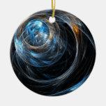 En todo el mundo ornamento redondo del arte abstra ornaments para arbol de navidad