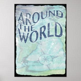 en todo el mundo: página del pasaporte póster