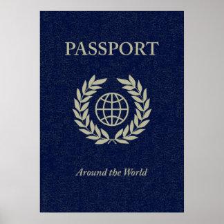 en todo el mundo: pasaporte póster