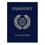 en todo el mundo: pasaporte tarjeta postal