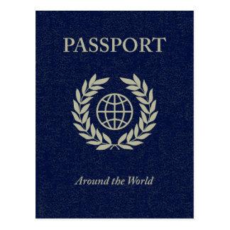 en todo el mundo: pasaporte tarjetas postales