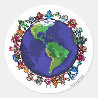 En todo el mundo pegatina redonda