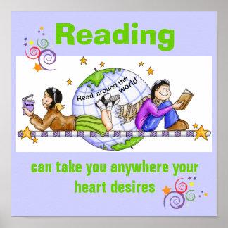 En todo el mundo poster leído de la instrucción póster