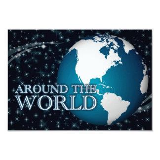 """en todo el mundo: starshine invitación 3.5"""" x 5"""""""