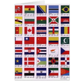 En todo el mundo tarjeta de felicitación