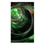 En todo el mundo tarjeta de visita verde del arte