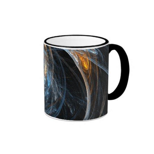 En todo el mundo taza de café abstracta
