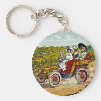 En Tour 1904 Basic Round Button Keychain