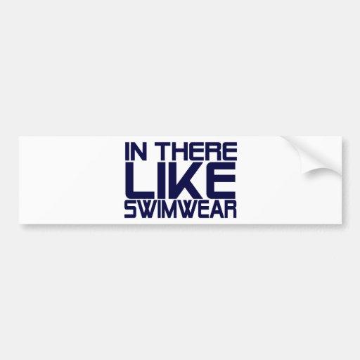 En traje de baño de los similares etiqueta de parachoque