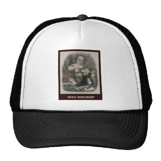 En travesura gorras