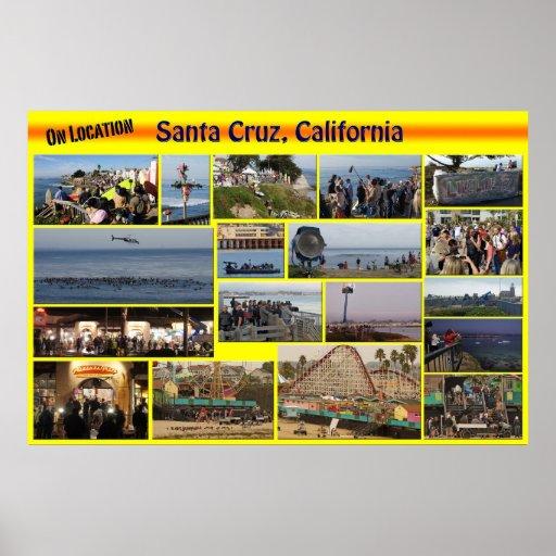En Ubicación-Santa Cuz, poster de California