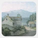 En Ullswater, el Cumberland, 1791 Pegatinas Cuadradas