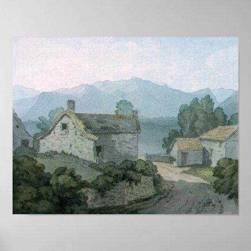 En Ullswater, el Cumberland, 1791 Poster