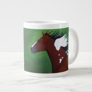 En un ala y una taza de café enorme del rezo tazas jumbo